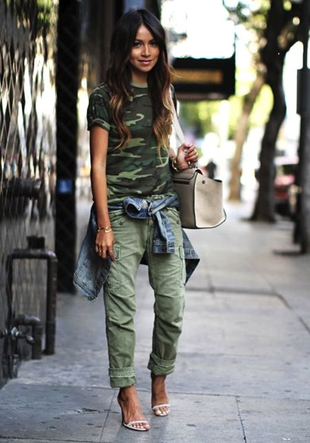 Style Right Now: 22 Camo Street Style Looks - StyleCarrot