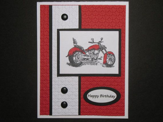 Harley Motorcycle Birthday Card by gloriouscardgreeting on Etsy, $3.00