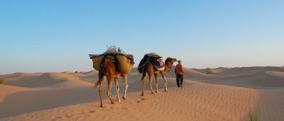TUNESIE: zonsondergang in de woestijn
