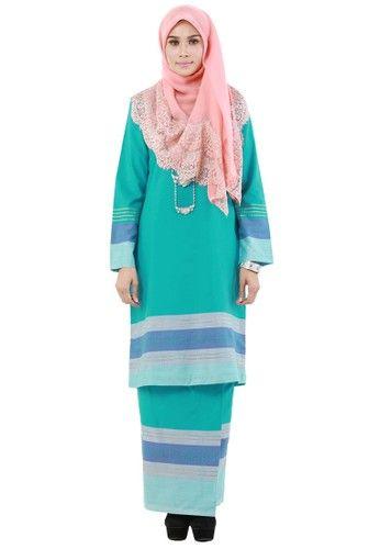 The Fablous from Hijrah Couture in Blue - High quality cotton- Perfect tailor made- Cutting Kurung Pahang ... #bajukurung #bajukurungmoden