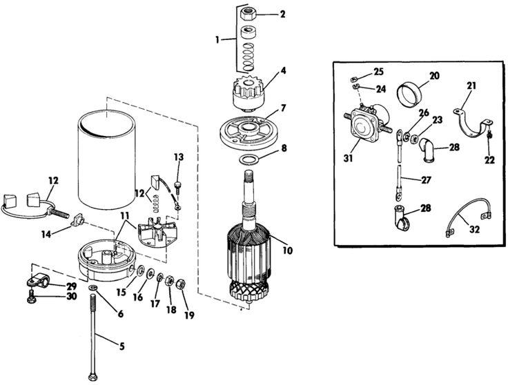 Evinrude Electric Starter & Solenoid American Bosch