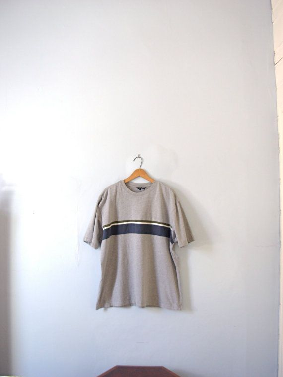 Vintage 90's grey shirt grey baggy shirt oversized by manorborn