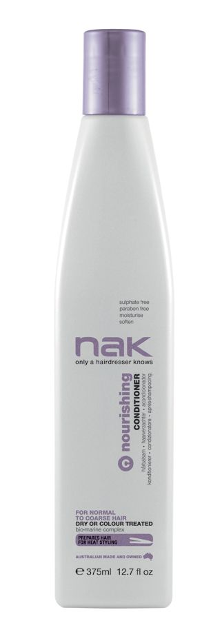 nak nourishing conditioner / designed for normal to coarse hair - dry or colour treated #sulphatefree #parabenfree #moisturise #soften