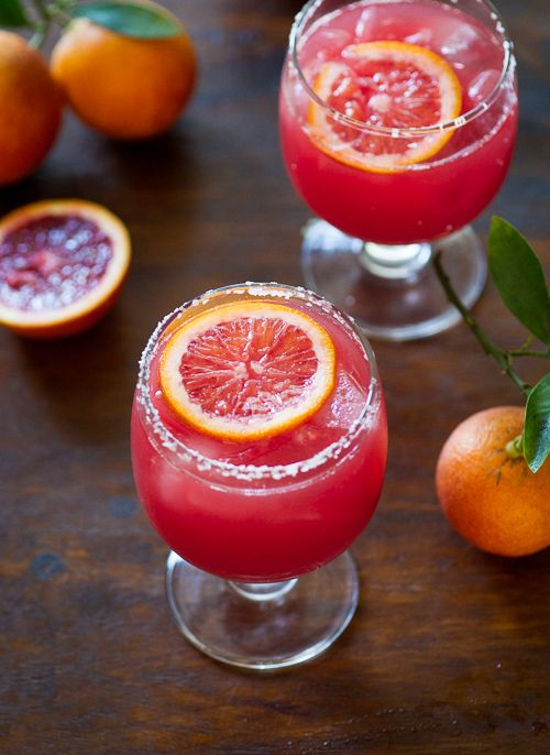 Refreshing Blood Orange Margarita Recipe via White On Rice Couple