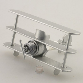 Schraubenmännchen Flugzeug Mini Roter Baron