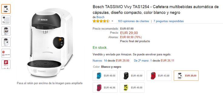 Chollo! Precio mínimo histórico! http://www.atrapatuchollo.com/cafetera-bosch-tassimo-barata/ No dejéis pasar esta oportunidad! #cafetera #barata #chollo #oferta #bosh #boshtassimo #atrapatuchollo