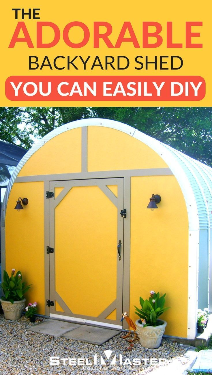 Finding a simple backyard shed is a breeze with the simple click of a button, but actually putting one together can be a frustrating process. We heard the concerns of our customers and worked to produce affordable DIY shed kits. backyard shed | sheds for sale | garden shed | metal shed | Florida shed | small backyard shed | yellow shed | shed plans | backyard shed plans | backyard shed for storage | backyard shed kits | backyard shed diy | backyard shed ideas | backyard shed makeover…
