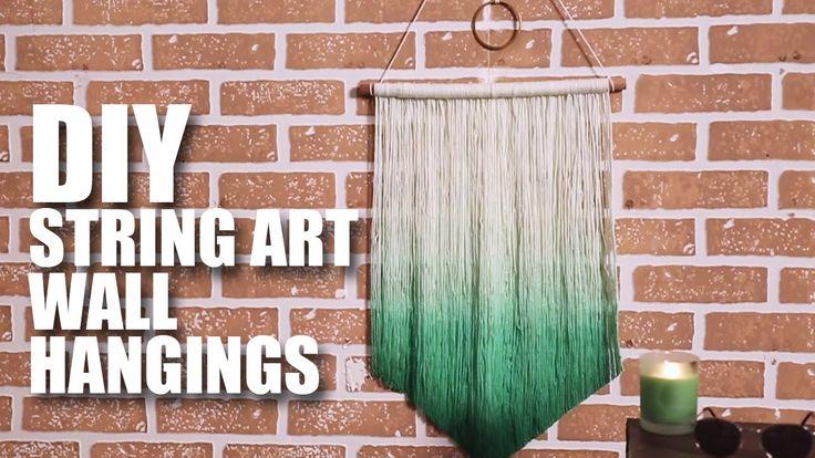 Mad Stuff With Rob - DIY String Art Wall Hanging | Room Decor Ideas