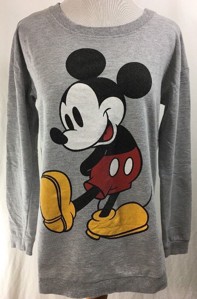 Women/'s Long Sleeve Mickey Mouse Hoodie Pullover Sweatshirt Cartoon Tops Blouse