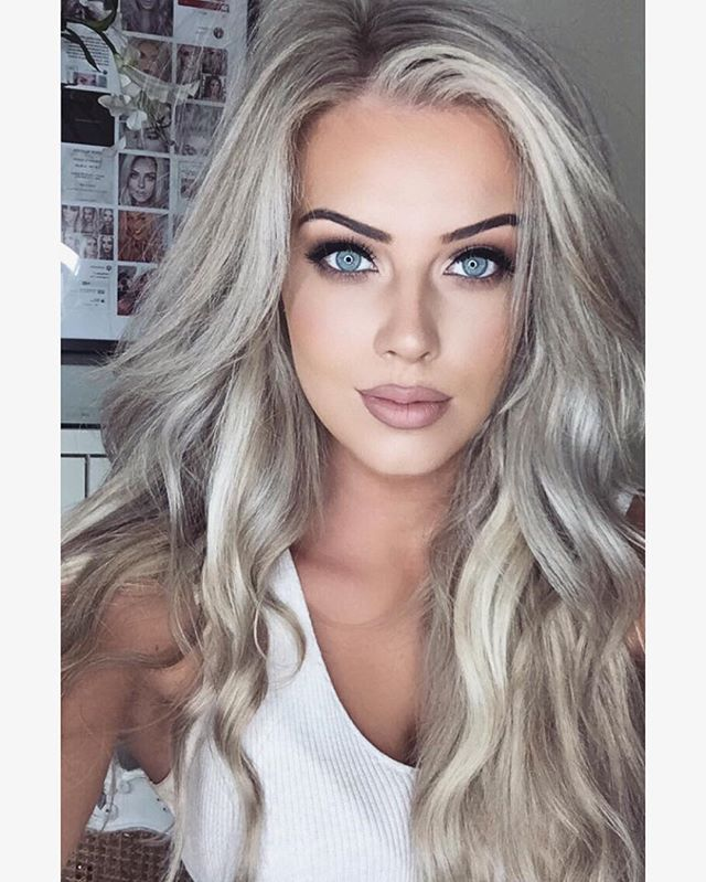 "Chloé Boucher - ""Fresh blonde from @zeroonesalon #makeup #hair #anastasiabeverlyhills #hudabeauty """