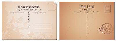 Старые почтовые карточки и марки. PNG.