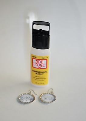 Bottle Cap Earring tutorial
