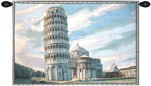 Woven in Italy History: Torre di Pisa, or Tower of Pisa, is an Italian jacquard wall tapestry. The Leaning Tower of Pisa or simply the Tower of Pisa is the camp
