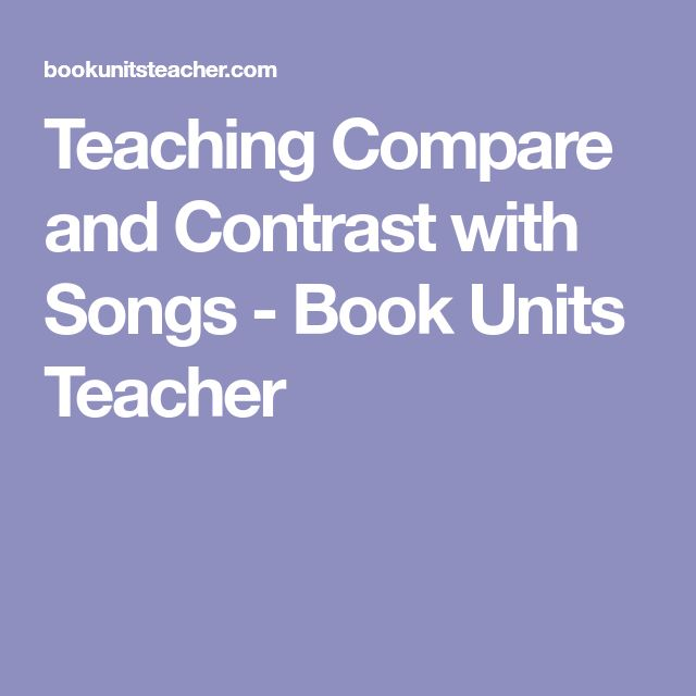 compare and contrast two songs Best answer: the key to writing compare/contrast papers is deciding what to compare and contrast your assignment asks you to compare two songs so, first, make a list of different qualities songs might h.