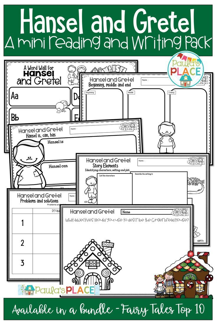 Fairy Tales Are A Great Way To Explore Language Through Reading And Writing Follow Hansel And Gretel Writing Activities Mini Reading Guided Reading Resources [ 1104 x 736 Pixel ]