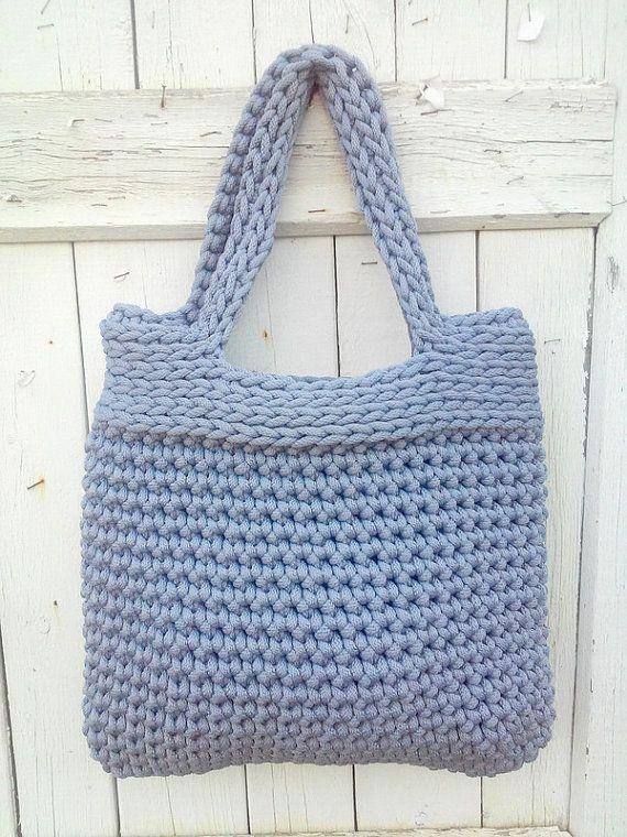 Knitted Bag/ Rope Bag/ Handmade Bag/ Chrochet by NataNatastudio