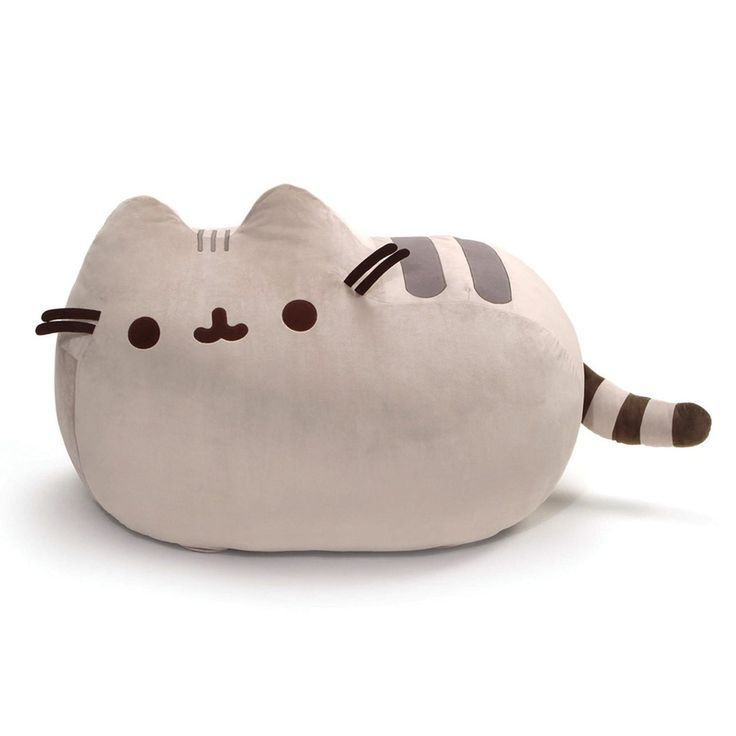 Gund presents Pusheen, the adorable internet sensation, as a super jumbo plush! The chubby cute gray tabby cat measures 22-inches tall and 41-inches long! This jumbo-sized Pusheen plush is the ultimat