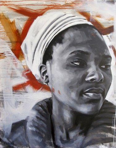 Luke Vehorn Original Oil Painting Contemporary Portrait South Africa Redux Charleston Queenstown