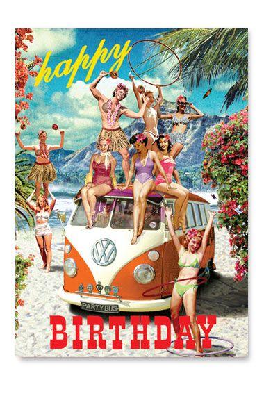 #SverveTurns1 Carte d'anniversaire bikini