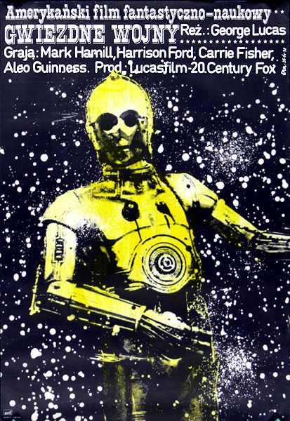"""Author : Jakub Erol  Poster : """"GWIEZDNE WOJNY"""", 1978  B1 vertical = 26.4"""" x 38.4"""" (67 x 97.5 cm), color offset  Circulation : 15500  Recent gallery price : $ 750  Film : """"Star Wars"""", US, (Lucasfilm - 20 th Century Fox), 1977  Directed by George Lucas  Starring : Harrison Ford, Mark Hamill, Carrie Fisher, Alec Guinness"""
