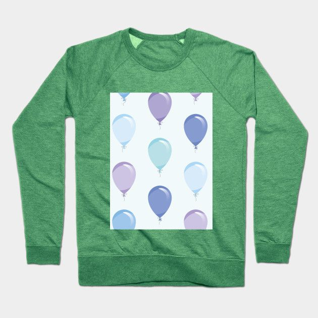 Baby Blue Balloons With Images Blue Balloons Crew Neck Sweatshirt Baby Blue