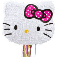 Pull String Hello Kitty Pinata 13 1/2in x 16in x 6in - Party City