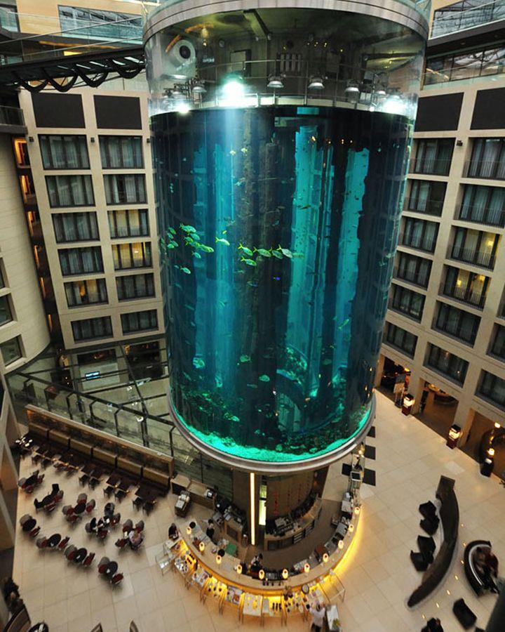 AquaDom in Radisson Blu Hotel, Berlin Germany hotel hotels and restaurants