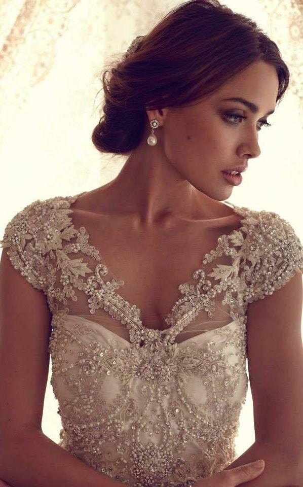 Stunning Wedding Dresses by Anna Campbell 2013 #bride #wedding ♥