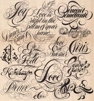 Tattoo Fonts and Tattoo Lettering for Your New Tattoo