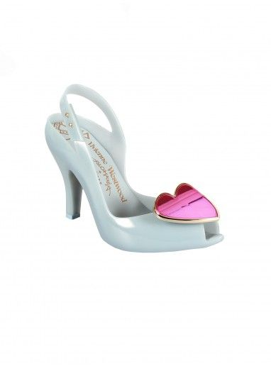 Vivienne Westwood + Melissa Shoes | Lady Dragon Heart Dove/Pink Metallic  Heart - nonnon