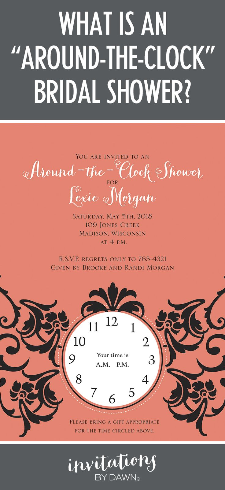 What is an Around the Clock Bridal Shower 9