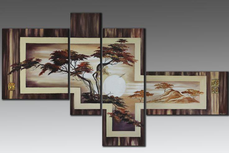 Модульная картина ручной работы. Общий размер 170х100 см. Масло, холст. Modular handmade. The total size 170х100 centimeters. Oil on canvas.