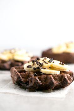Vegan Gluten-Free Chocolate Waffles made in the Vitamix