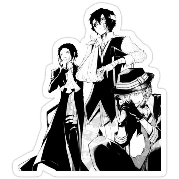 Bsd Sticker By Ethereall Cute Stickers Anime Stickers Bongou Stray Dogs
