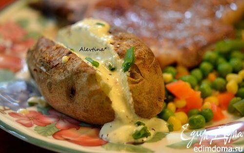 Печеный картофель с фетой