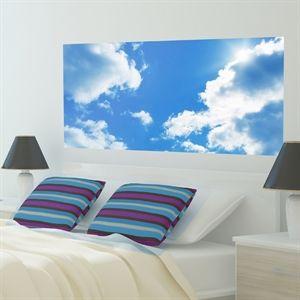 GoBig Clouds #wallpanel #bluesky #homedecor