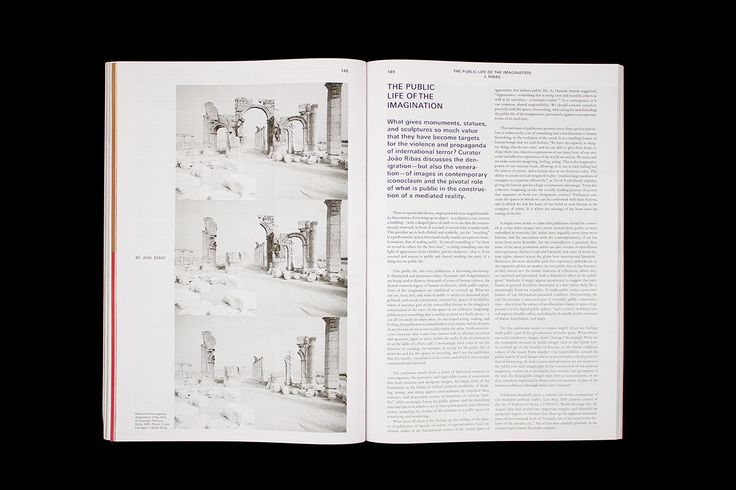 Mousse Magazine #52~ #joãoribas #publiclife #imagination #palmyra #syria #archoftriumph #destruction #moussemagazine