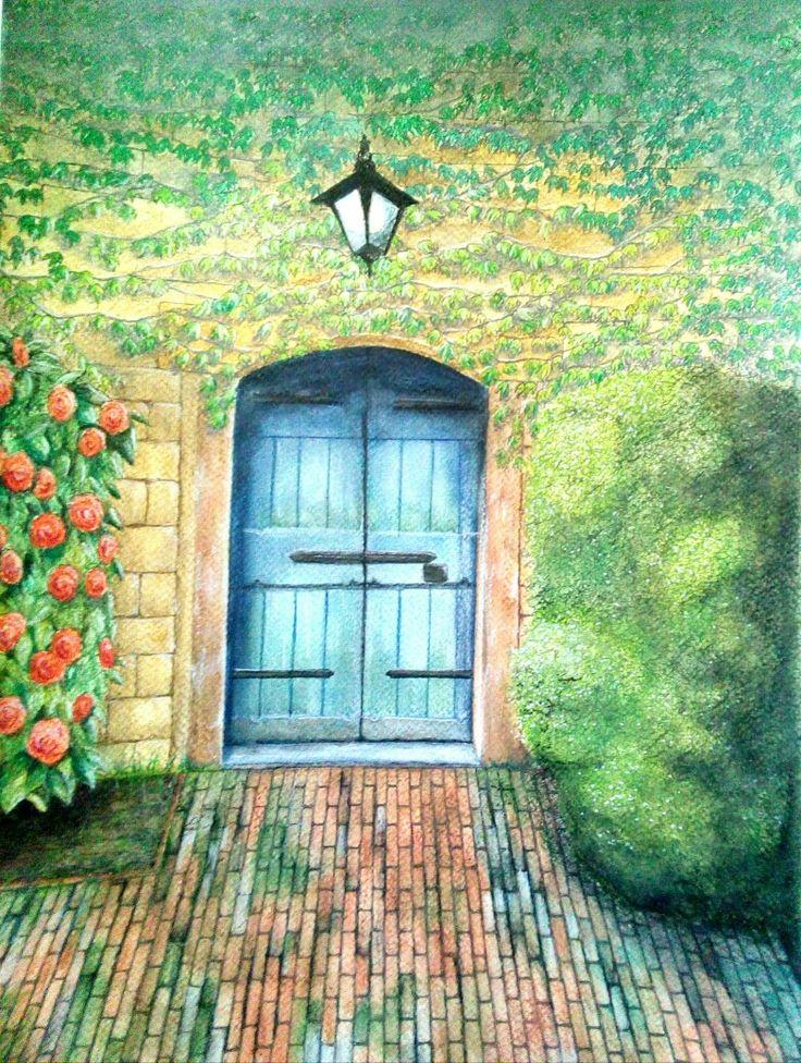Watercolour by Norman Sumpton.