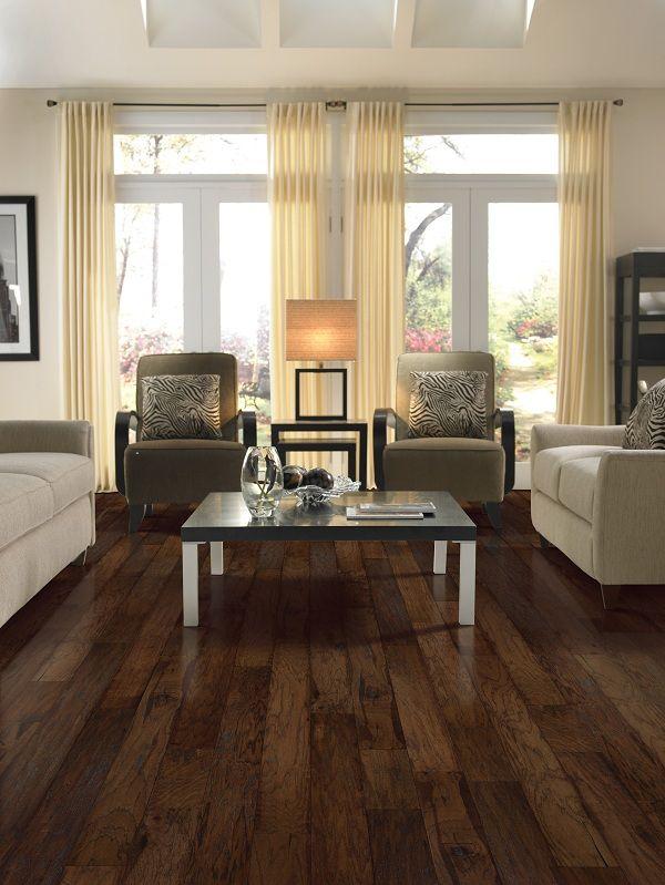 love the hardwood floor color!