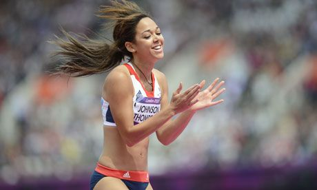 Liverpool-born Katarina Johnson-Thompson, Great Britain's heptathlete, Olympics 2012