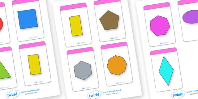 Twinkl Resources >> 2D Shape Flashcards (inc. Shape Names)  >> Thousands of printable primary teaching resources for EYFS, KS1, KS2 and beyond! 2D shapes names, shape flashcards, shape pictures, shape words, 2D flashcards,