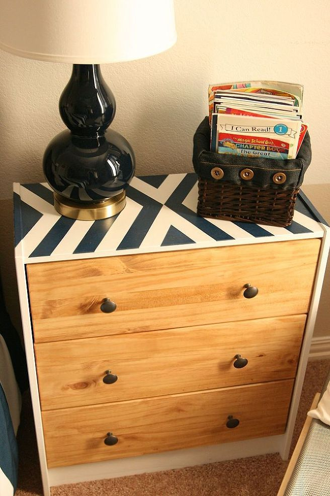 Ikea Rast Hack- my boys need new dressers. Maybe something like this, fun pattern on top