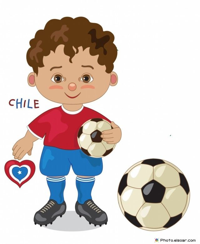 Chile National Jersey, Cartoon Soccer Player