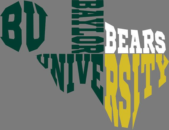 Baylor Texas University SVG... DXF by KristiKsKreations on Etsy