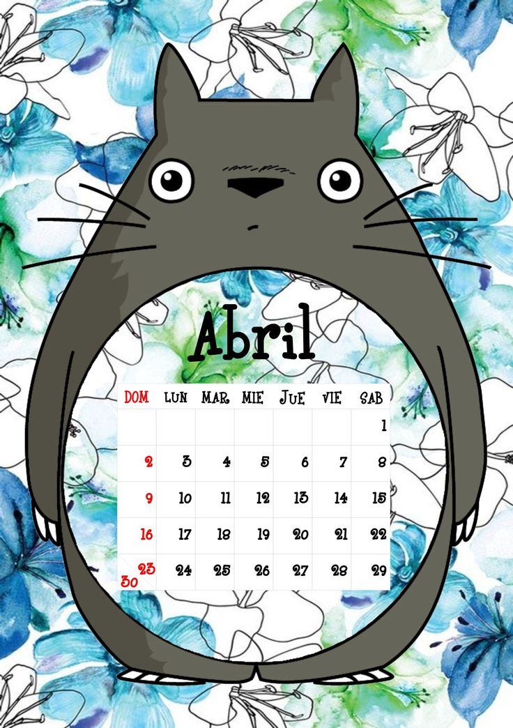 Calendario Totoro 2017 ♦ Abril ♦