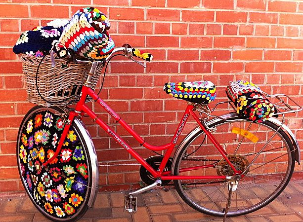Granny Square Bike over the top Sweetness!