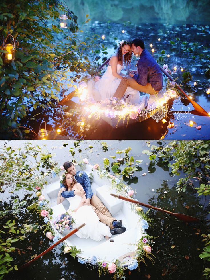 Romantic lake engagement session