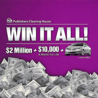 PCH Win It All with Publishers Clearing House Dream Life Prize Sweepstakes 2017. Win PCH $2 Million Cash, $10,000 a Month for Life and a Brand New Car with Giveaway No.8800...