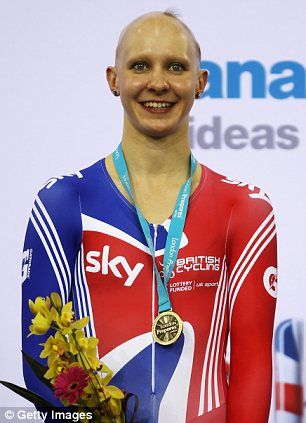 Joanna Rowsell. UK biker with Alopecia. Gold Medalist
