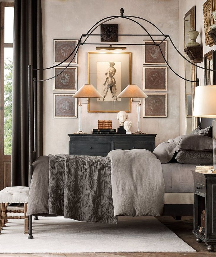 Bedroom Ideas from the Top Designers Iron canopy bed